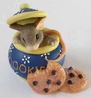 Charming Tails Fitz & Floyd HI COOKIE Mouse Figurine