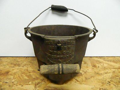 Antique Cast Iron Pot 1800s Hunter Sifter Mfg Co