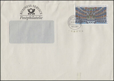 1983 Bayreuth 300 Pf. EF Brief Business-Service Postphilatelie FRANKFURT 22.6.98