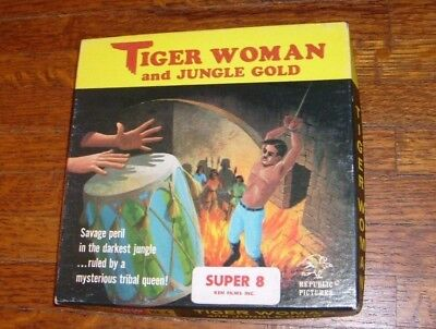 Tiger Woman And Jungle Gold Vintage Super 8 8Mm Film Movie