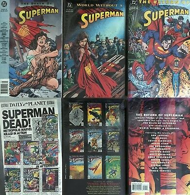 DEATH AND RETURN OF SUPERMAN Trilogy TPB Vol 1 2 3 ultra rare 1993 1st edn/print