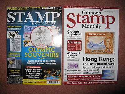 Stamp and Coin Mart & Gibbons Stamp Monthly Magazines.