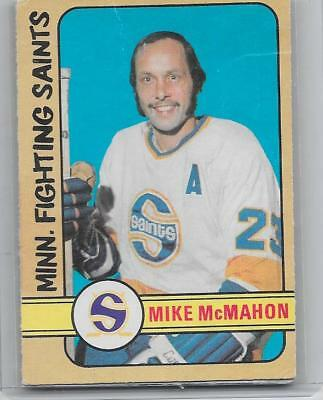 1972-73 OPC O-Pee-Chee hockey Mike McMahon High Number WHA card #305 EX- SP RARE