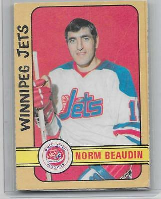 1972-73 OPC O-Pee-Chee hockey Norm Beaudin High Number WHA card #290 VG+++ SP
