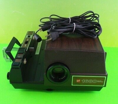 GAF Slide Projector, 1680 w/ 3-Way Remote, Tested and Working #RarePj