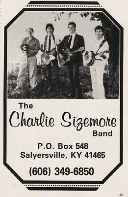1986 Charlie Sizemore Band Salyersville KY Booking Promo Print Ad
