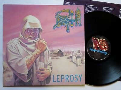 DEATH - Leprosy LP 1988 ORIG. PRESS - FLAG 24