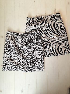 Ann Taylor LOFT Skirts Pencil Animal Print Geometric Career Wear LOT OF 2