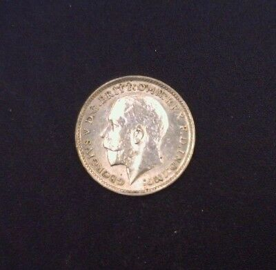 1911 Great Britain Three Pence .925 Fine Silver ASW .0420 oz KM # 813