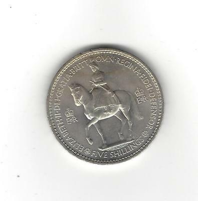 Great Britain 1953  5 Shillings(Crown)  Choice Uncirculated