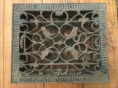 Antique Victorian Ornate Cast Iron Heat Grate Vent Register Cleveland OH 8 x 10