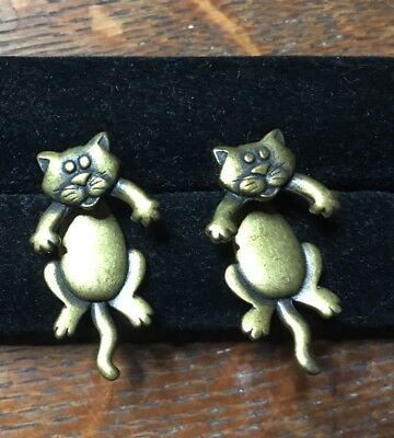 Crazy Cat Earrings, By JJ, Fun and Quirky