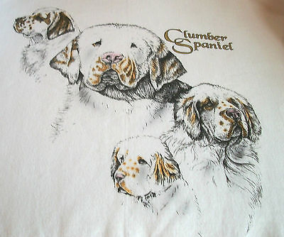 "Clumber Spaniel T-shirt  "" Natural ""  Medium  ( 38 ~ 40 )"