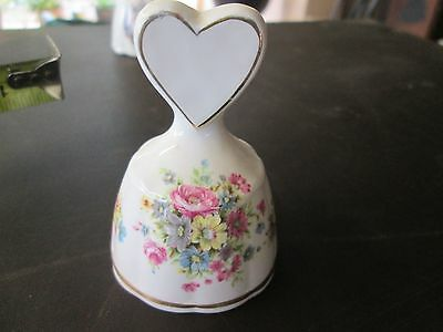 Vintage collectable bell floral themed bone china buy 1 and 2nd half price deal