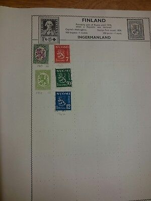 Finland Used Stamps x5 1917 - 1942
