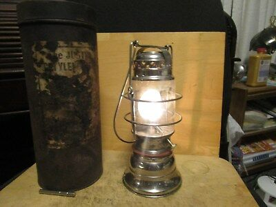 Miners JUSTRITE # 10 CARBIDE LAMP / LANTERN with CAN - WORKING!!