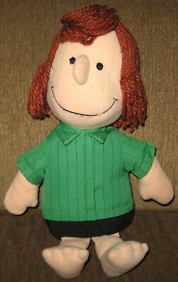 """Vintage PEANUTS PEPPERMINT PATTY Stuffed Toy Plush Doll 13"""" Determined 1982"""