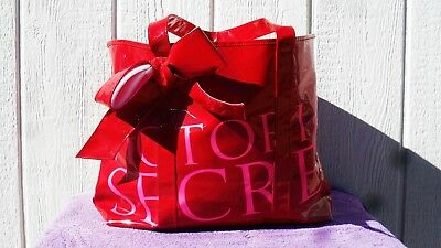 Victoria's Secret Tote Bag Large Red and Pink with Bow