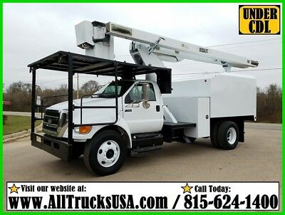 2008 Ford F750 CAT C7 Diesel AUTOMATIC 60' BOOM Forestry Bucket Truck UNDER CDL