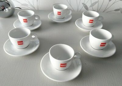 6 tasses à cafe expresso ILLY + SOUCOUPES / ILLY CAFFE ITALIE