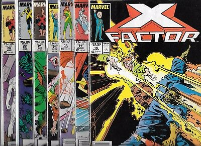 X-Factor Lot Of 6 - #16 #17 #18 #20 #21 #22 (Vg/fn) + Free #26, Copper Age