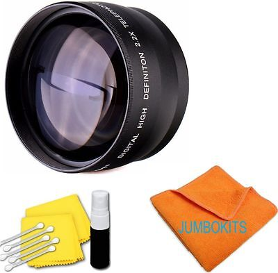 Sport Action 2X Tele Zoom Lens With Free Carrying Case For Nikon D3000 D3100 D90