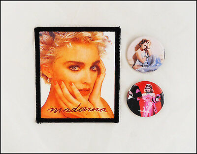 Madonna Lot Of 2 Original 80's Boy Toy Buttons & Sew On Patch / Like A Virgin