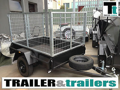 6x4 SINGLE AXLE HEAVY DUTY BOX TRAILER | 3ft/900mm CAGE | NEW WHEELS & TYRES