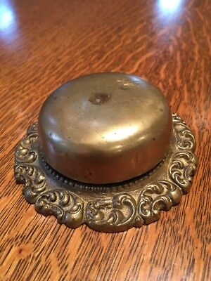 Beautiful Antique Victorian Syle Twist Door Bell Solid Brass. Missing Back Plate
