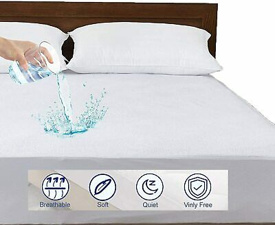 Luxury Extra Deep 30cm Waterproof Matress Protector Terry Towel fitted sheet