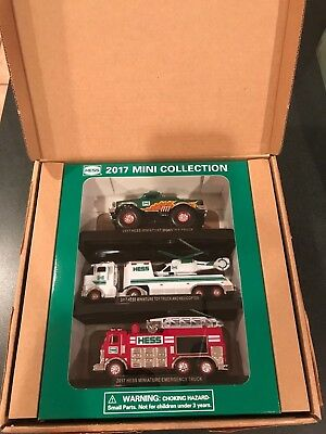 2017 Hess 3-Truck Mini Truck Collection - SOLD OUT -BRAND NEW IN ORIGINAL BOX