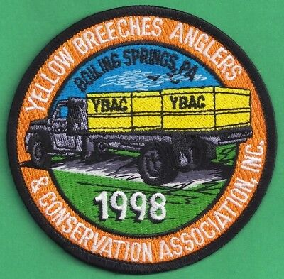 Pa Pennsylvania Fish Game Commission NEW 1998 Yellow Breeches Anglers Patch