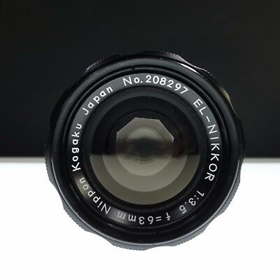 Nikon El-Nikkor 63mm f3.5 Enlarging Lens  - Rare and HTF