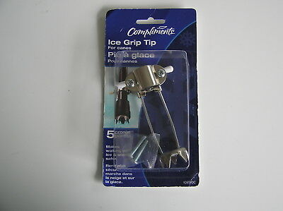 1 Ice & Snow Grip Tip Attachment For Walking Canes  Stainless Steel 5 Prong Tip