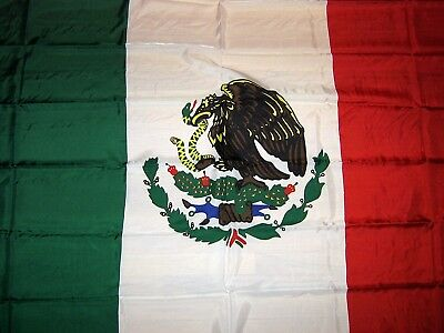 Large Mexican Flag 4ft X 6ft Polyester Clear Bandera sharp color NICE QUALITY