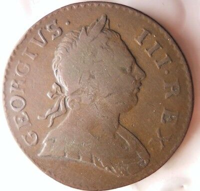 1773 GREAT BRITAIN 1/2 PENNY - VERY HIGH QUALITY - Hard to Find Coin - Lot #N16