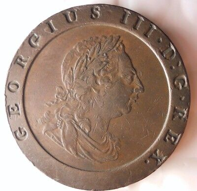 1797 GREAT BRITAIN 2 PENCE - GORGEOUS COIN - Hard to Find HUGE VALUE - Lot #N16