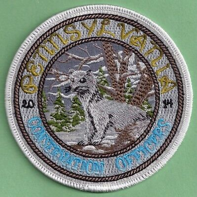 """Pa Pennsylvania Fish Game Commission NAWEOA NEW 4"""" 2014 COPA Weasel Patch"""