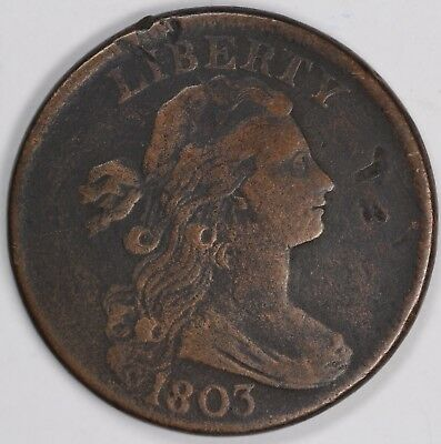 1803 1c Draped Bust S-258 Large Cent UNSLABBED