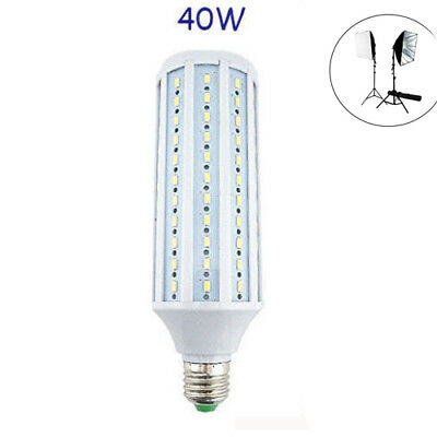 40W LED Studio Light Bulb Medium Screw E26 5500k Full Light Bulb for Photography