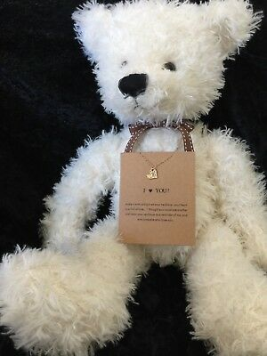 "Teddy Bear  With Necklace ""i Love You"""