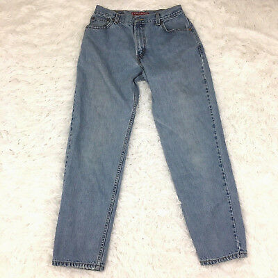 Vintage 90s Levis Womens 550 Mom Jeans Size 12 (28x30) High Waist Tapered Leg G1