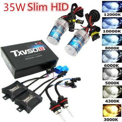 35/55W HID Xenon Bulbs Headlight Slim Ballast Conversion Kit H1 H3 H4 H7 9005 OW