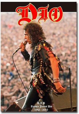 "Ronnie James DIO 1942-2010 Fridge Toolbox  Magnet Size 2.5"" x 3.5"""