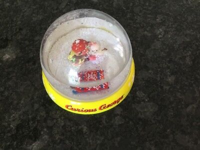 Curious George Cg Movie Plastic Snowglobe