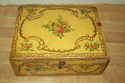 Antique Brooks Sewing Cottons Spool Box Victorian late 1880s With Spool Insert