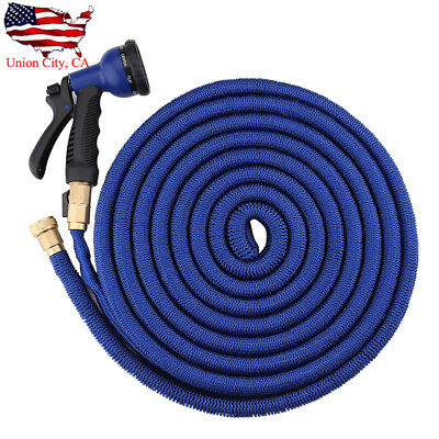 25 50 75 100 Feet Expandable Flexible Garden Magic Water Hose Pipe Spray Nozzle