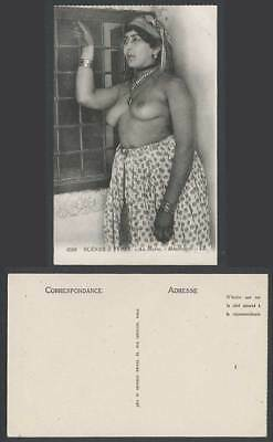 Morocco Old Postcard Mauresque Native MOORISH Woman Lady & Window Scenes & Types