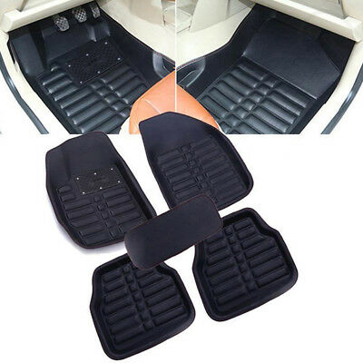5pcs/Set Universal Car Floor Mats FloorLiner Front&Rear Carpet All Weather Mat