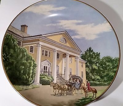 """AMERICAN COMMEMORATIVE COUNCIL GORHAM CHINA - MONTPELIER  - 11"""" Plate 1976"""